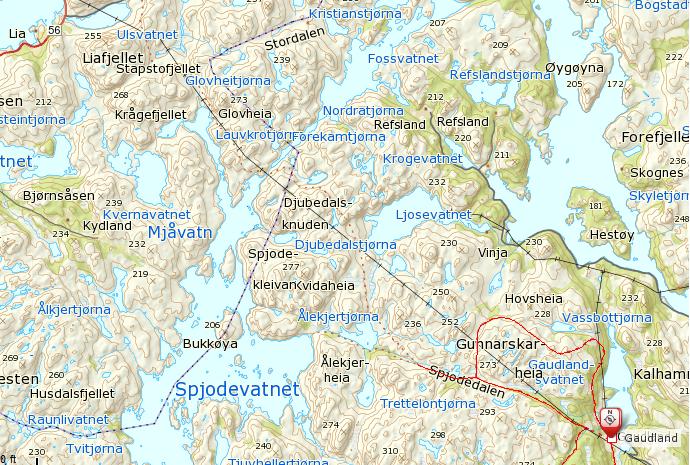 Kart 2. Jeg fulgte denne