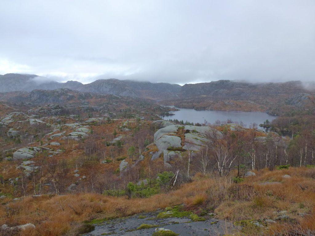 Utsikt mot Løyning. Krogevatnet