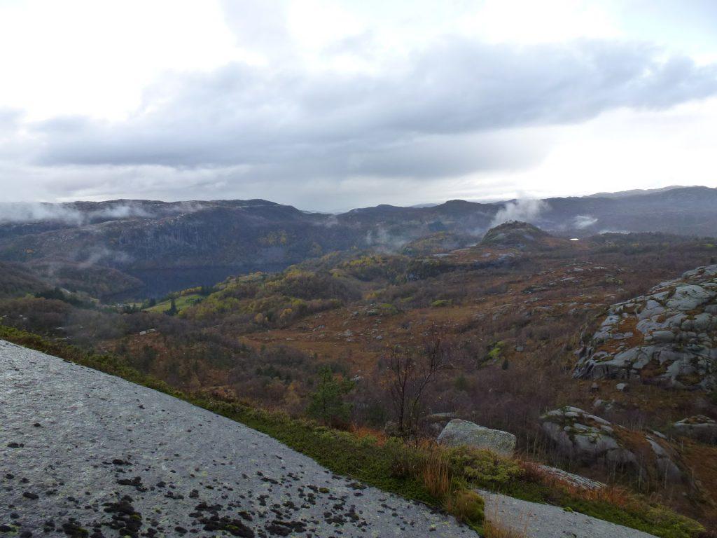 Utsikt mot Årrestad og Håland