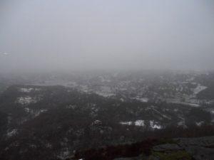 Utsikten er ikke helt på sitt beste i dag.