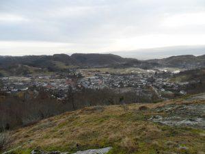 Utsikten fra Bjørgan.