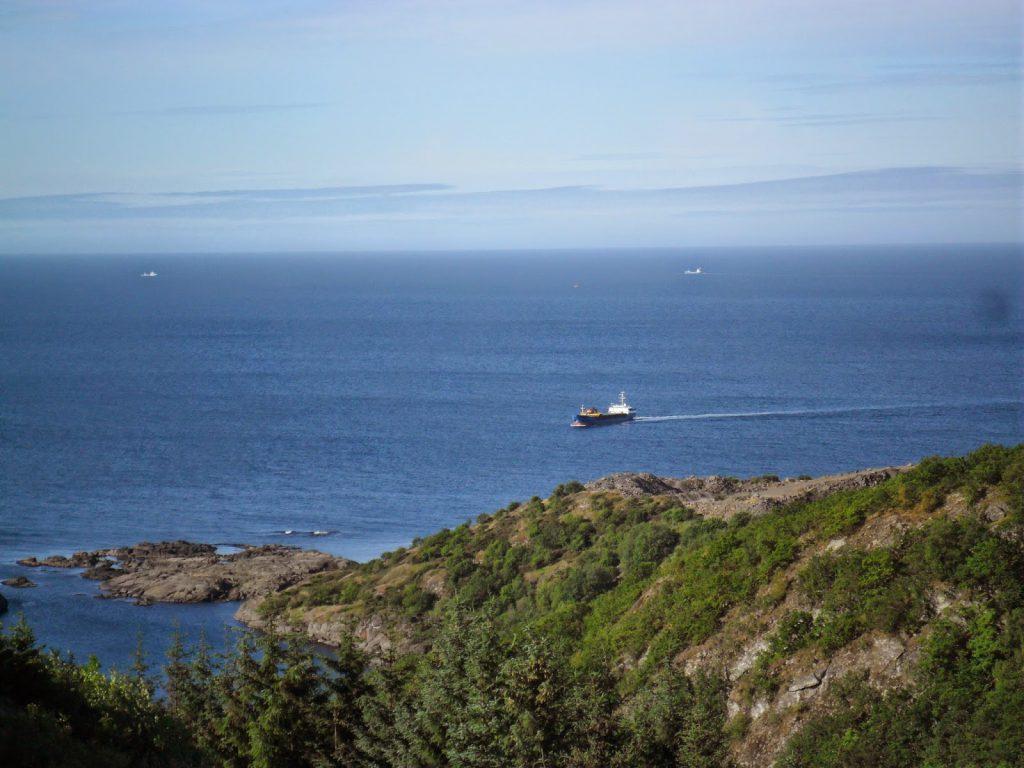 Like etterpå snudde båten og kjørte inn i Rekefjord