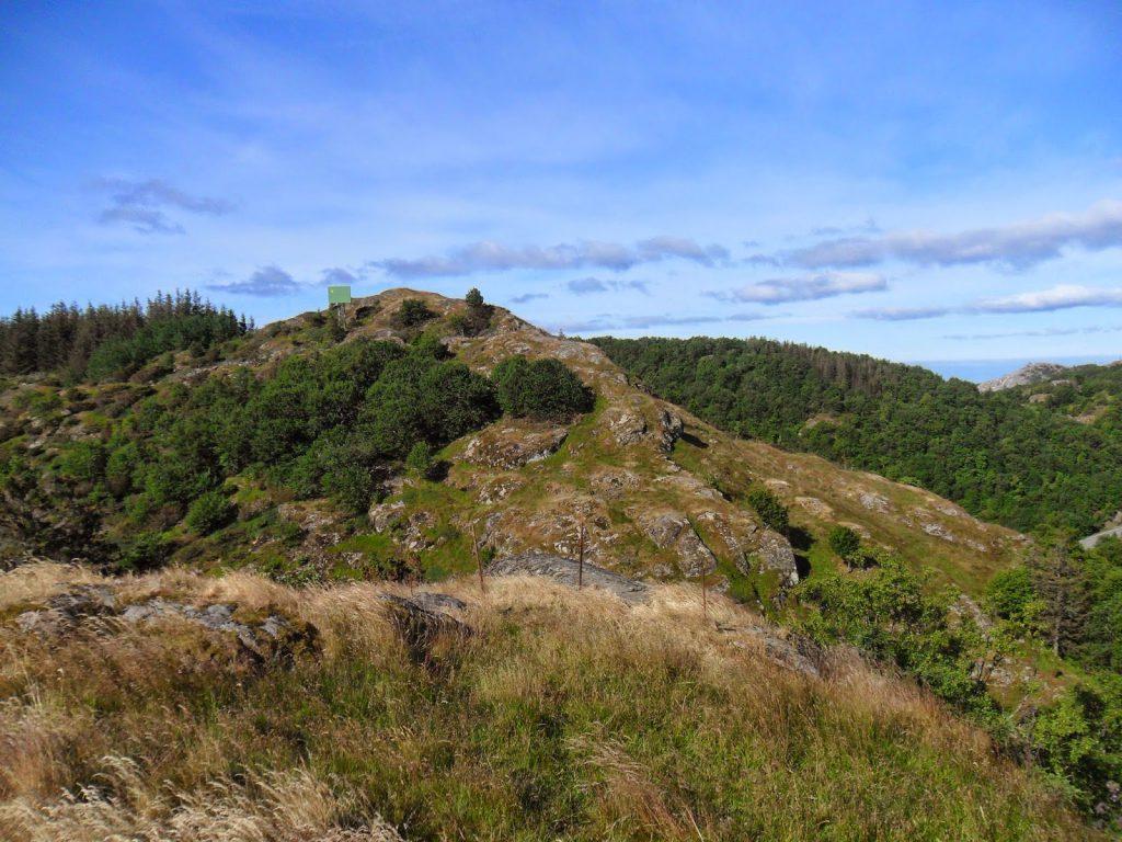 Fra Skågjo, mot den første toppen vi var på