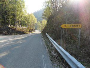 Avkjørslen til Løtoft