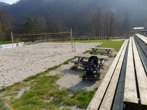 Sandvolleyballbanen på Åmodt