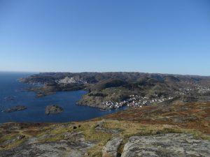 Utsikten mot Sogndalstrand og Rekefjord