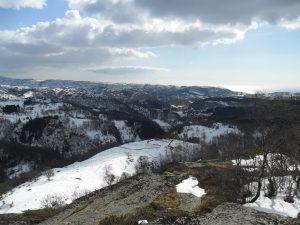 Utsikt fra Steinbergknuten (mot Lindland)