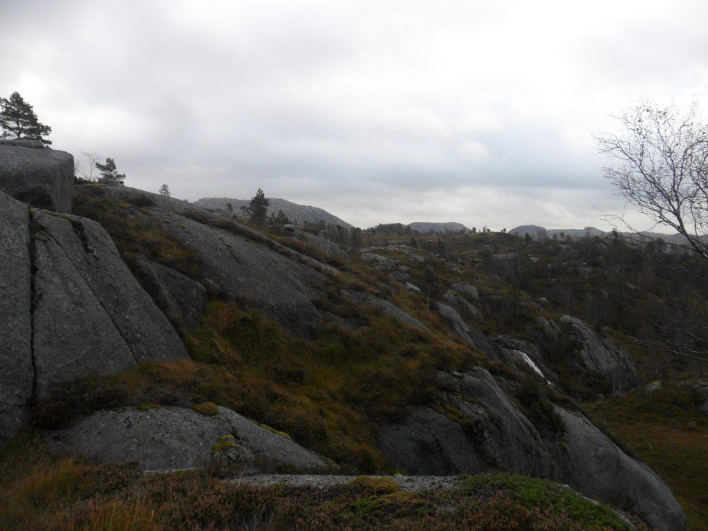 På vei inn mot Sagafossen