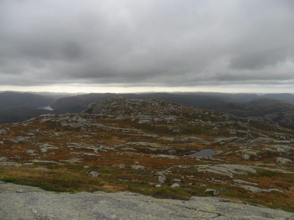 Utsikt sørover fra Grønhaug