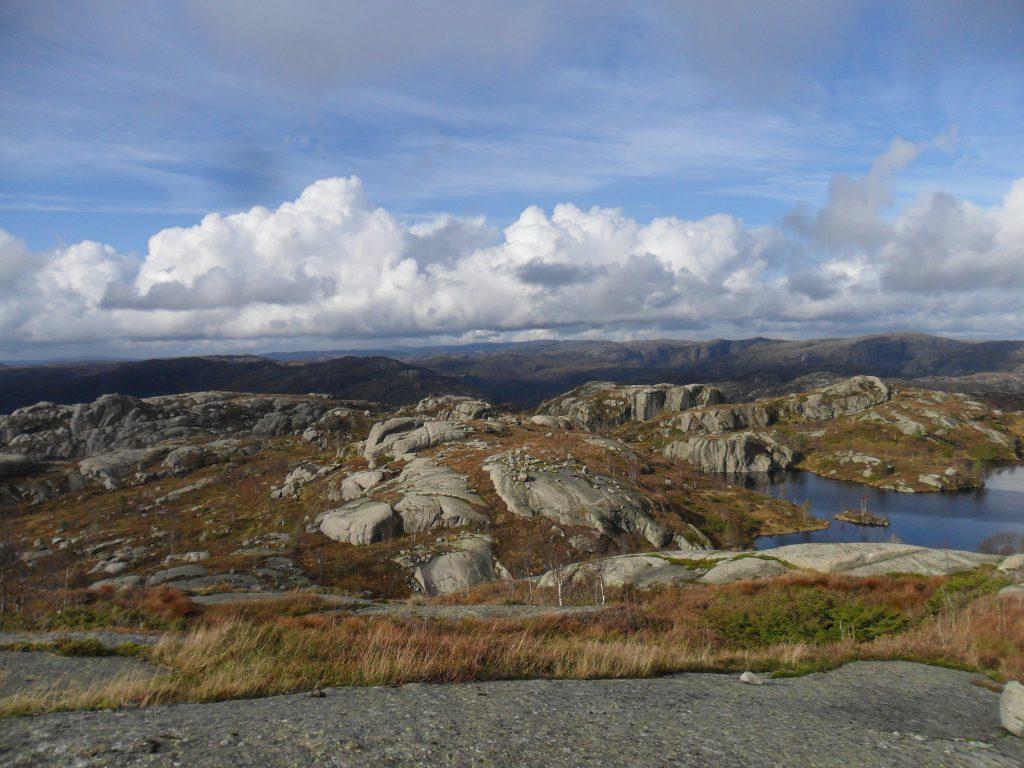Flott utsikt fra Guddalsfjellet